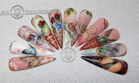 летние дизайны ногтей